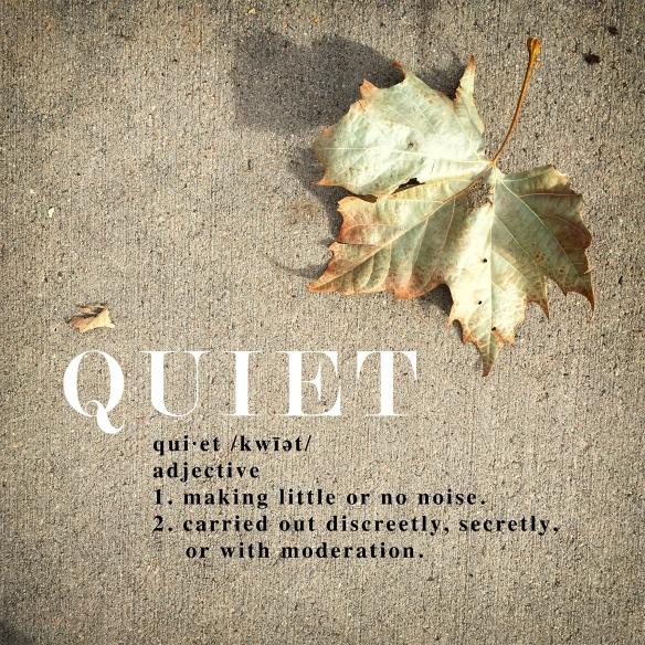 1.Quiet